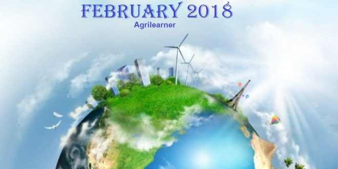 Agriculture Current Affairs february 2018