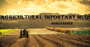 Agricultural Important MCQs