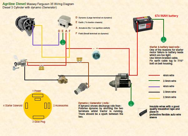 Massey Ferguson 135 Wiring Diagram