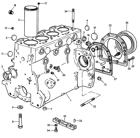Massey Ferguson 165 Engine Parts