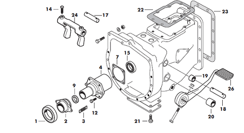 Massey Ferguson 165 Bell Housing Parts