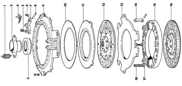 Massey Ferguson 35X Clutch & Pressure Plate