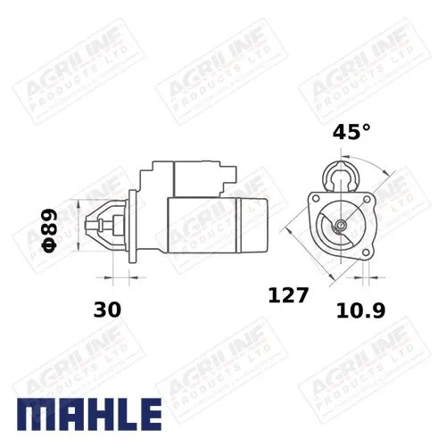 Gear Reduction Starter Motor 12V, 4.2Kw