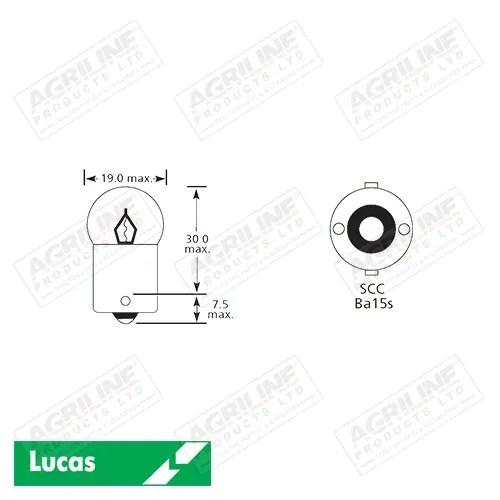Bulb 12V 5W BA15S SCC G18.5- Single
