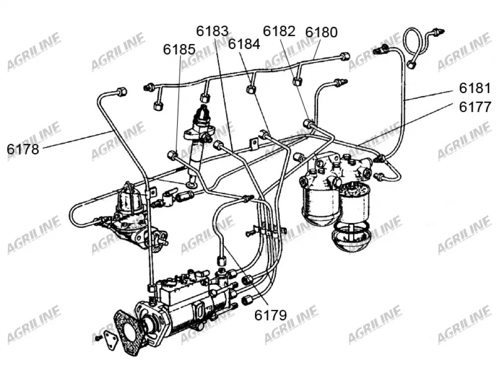 Lift Pump To Fuel Filter Housing Pipe