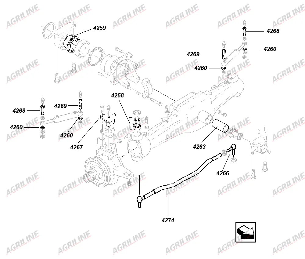 Outer Steering Cylinder Pin