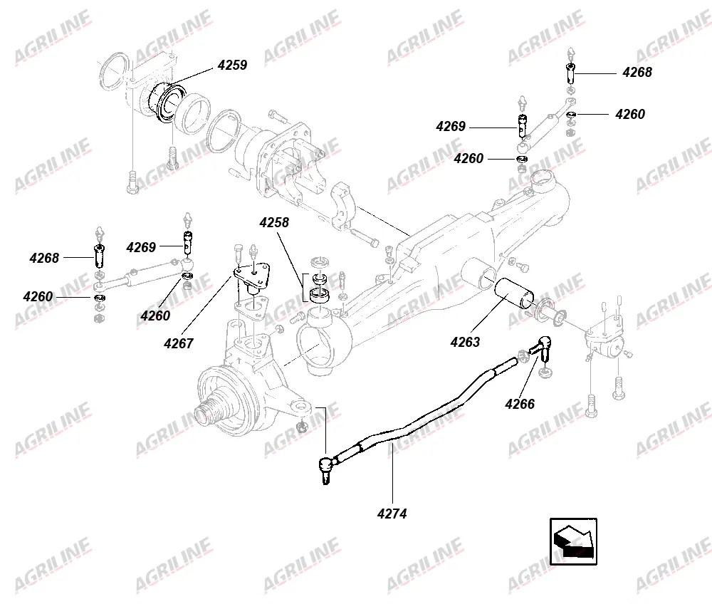 Inner Steering Cylinder Pin