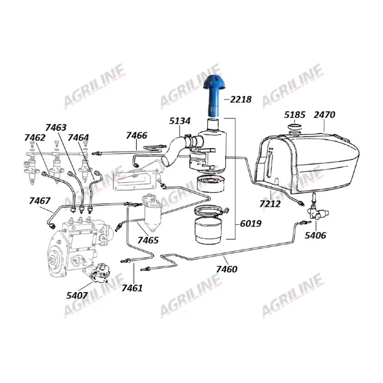 Fuel Pipe-Filter To Injection Pump (Inner)