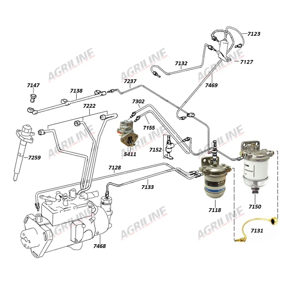 Fuel Pipe- Lift Pump to Filter