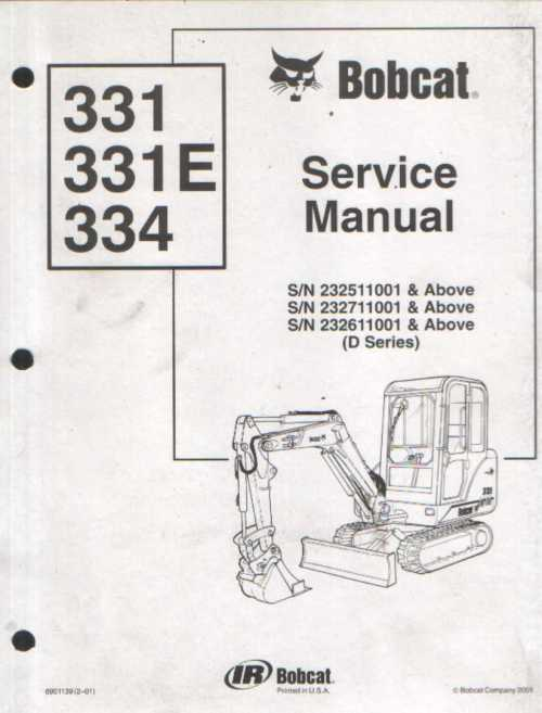 small resolution of bobcat excavator 331 331e 334 service workshop manual 3284 p jpg