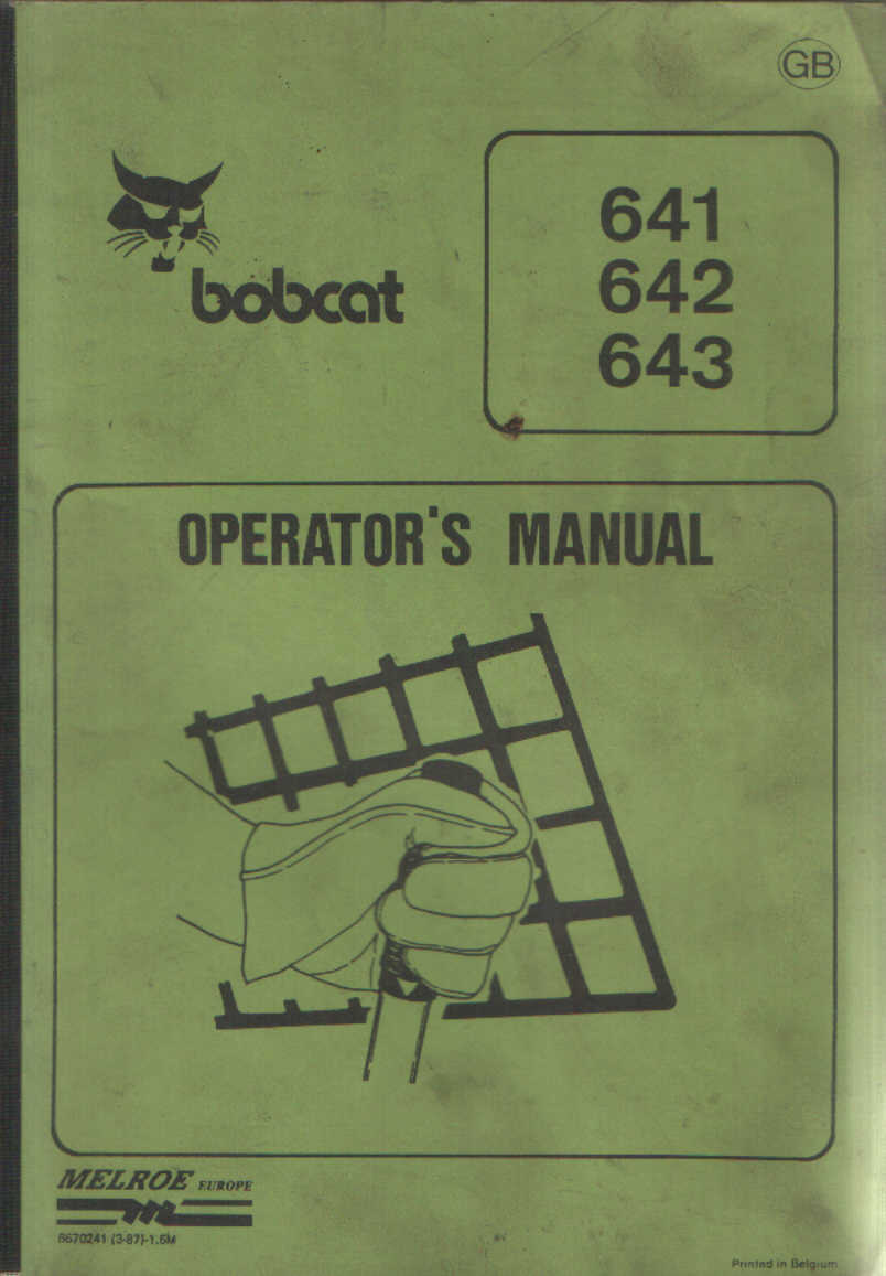 hight resolution of home construction manuals bobcat manuals bobcat skid steer loader manuals