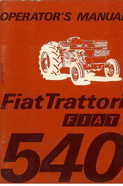 Home Safety Diagrams Fiat Tractor 540 Special Vineyard Amp Dt Operators Manual