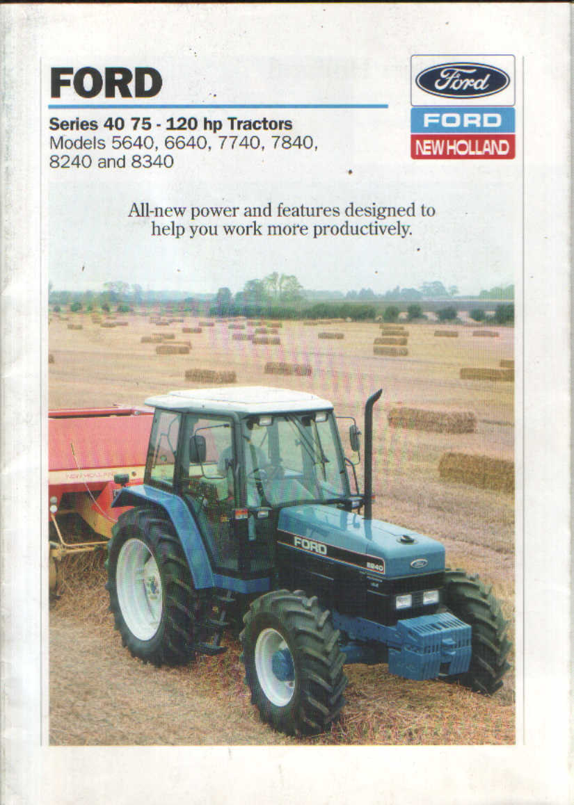 Ford New Holland Tractor 5640 6640 7740 7840 8240 8340