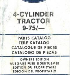 ford tractor cylinder includes parts manual jpg 1066x1653 ford 6600 parts diagram [ 1066 x 1653 Pixel ]