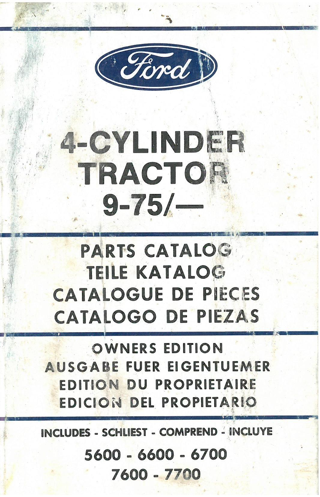 hight resolution of ford tractor cylinder includes parts manual jpg 1066x1653 ford 6600 parts diagram