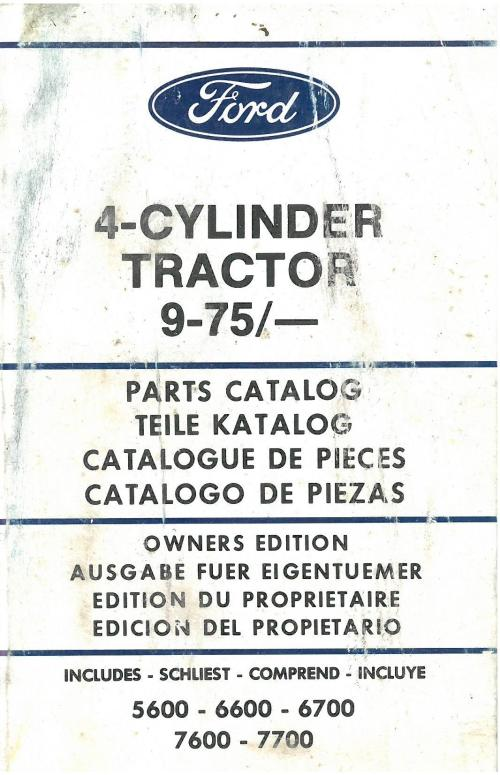 small resolution of ford tractor cylinder includes parts manual jpg 1066x1653 ford 6600 parts diagram