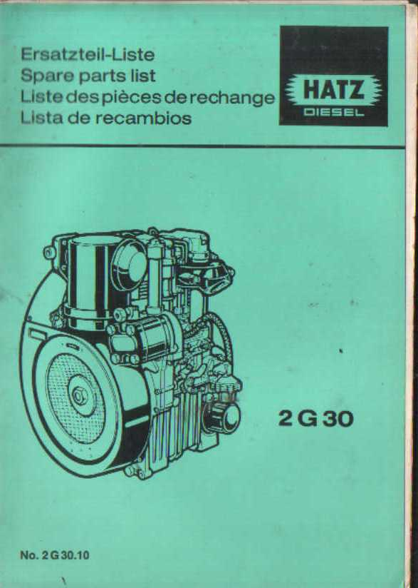 Hatz Engine 2g30 Parts Manual