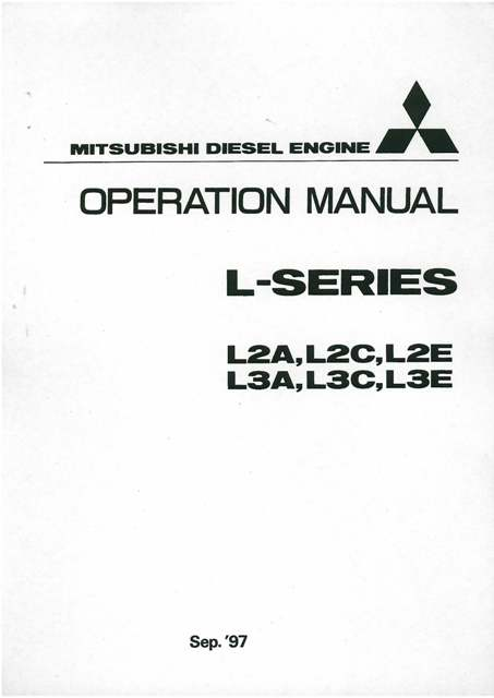 Mitsubishi D04FD-TAA Diesel Engine Service Repair Workshop