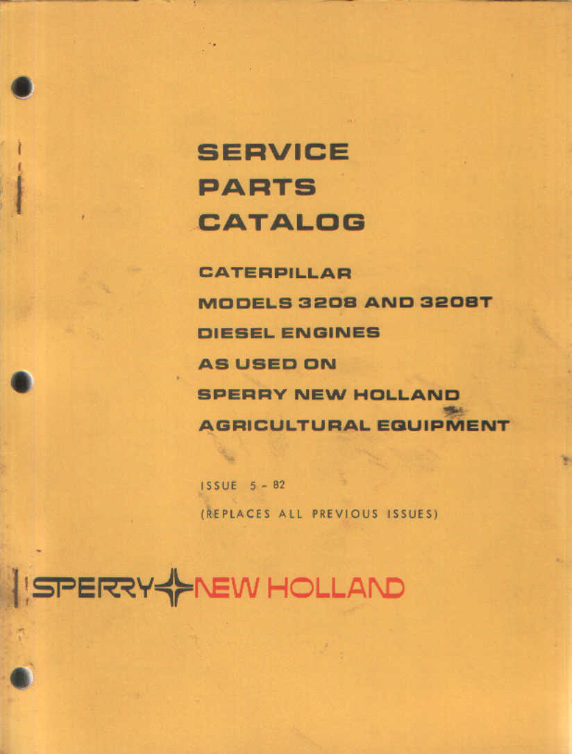 hight resolution of home new holland tractor machinery manuals other new holland manuals new holland caterpillar 3208 3208t engine