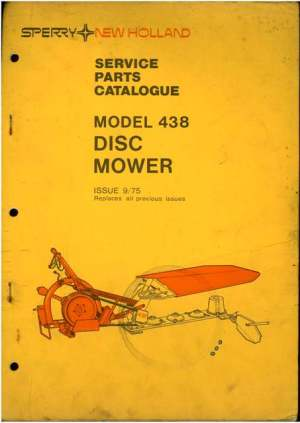 New Holland Disc Mower 438 Parts Manual