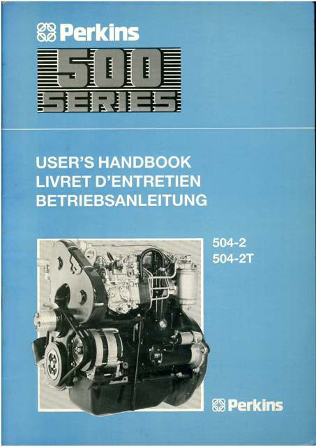 Perkins Engine 500 Series Operators Manual  Models 5042 5042T