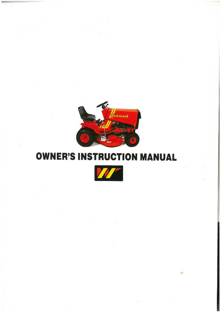 Westwood Garden Lawn Tractor Mower S600 R & E S800 S1100