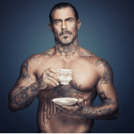 Muscle Guy With a Cup of Tea