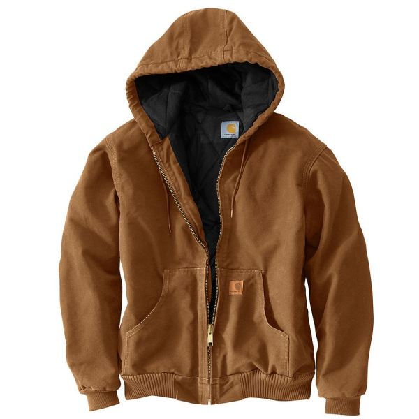 Men' Sandstone Active Jacket Large Carhartt Brown