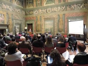 La sala del convegno a Palazzo Valle Agronetwork