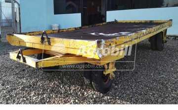 Carreta Prancha de Ferro / 8 Pneus > Usada - Carreta Agrícola Metálica - Personalizado - Agrobill - Tratores, Implementos Agrícolas, Pneus
