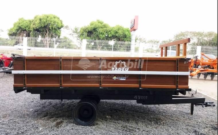 Carreta de Madeira Basculante 4 Toneladas RD / sem Pneus / com Freio  – Tadeu > Nova - Carreta Agrícola de Madeira - Tadeu - Agrobill - Tratores, Implementos Agrícolas, Pneus