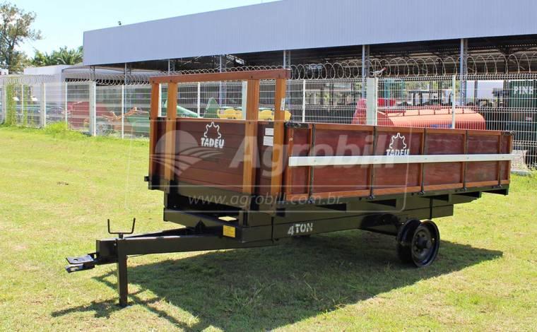 Carreta de Madeira Basculante 4 Toneladas RS / Sem Pneus – Tadeu > Nova - Carreta Agrícola de Madeira - Tadeu - Agrobill - Tratores, Implementos Agrícolas, Pneus