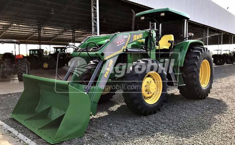 Trator John Deere 6415 4×4 ano 2009 com Plaina Stara PAD 750 - Tratores - John Deere - Agrobill - Tratores, Implementos Agrícolas, Pneus
