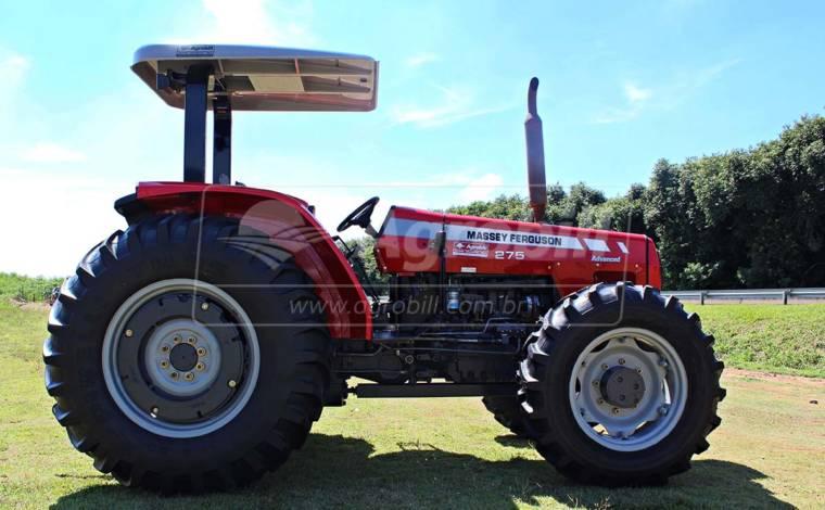 Trator Massey 275 4×4 ano 2009 Advanced c/ 1962 horas, tração central. - Tratores - Massey Ferguson - Agrobill - Tratores, Implementos Agrícolas, Pneus