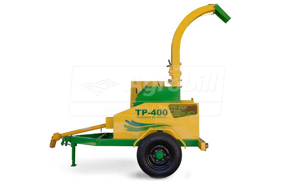 Triturador de Galhos TP-400 / Rodeiro – Pinheiro > Novo - Triturador - Pinheiro - Agrobill - Tratores, Implementos Agrícolas, Pneus