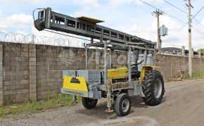 Trator PERFURATRIZ ano 2012 montado em MF 275 4×2 ano 2002 para até 14 metros de profundidade - Tratores - Laroca - Agrobill - Tratores, Implementos Agrícolas, Pneus