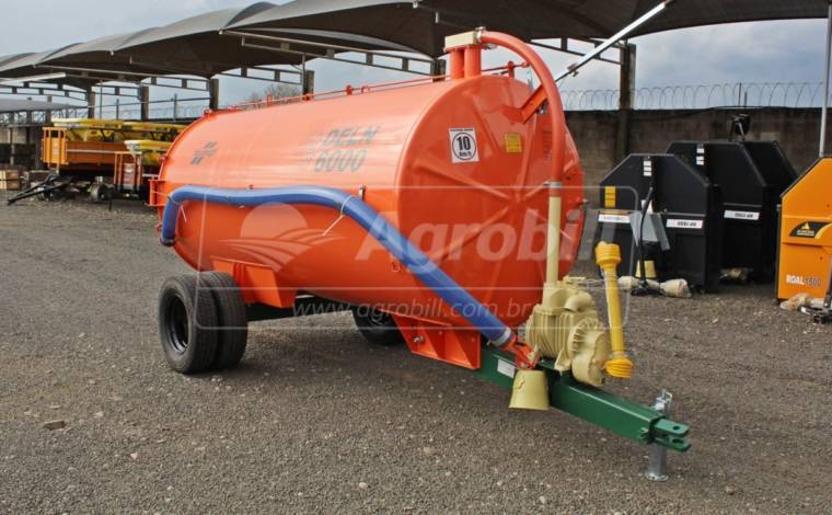 Distribuidor de Esterco Líquido DELN 6000 a vácuo/ Sem Pneus – Incomagri > Novo - Tanque de Água - Incomagri - Agrobill - Tratores, Implementos Agrícolas, Pneus