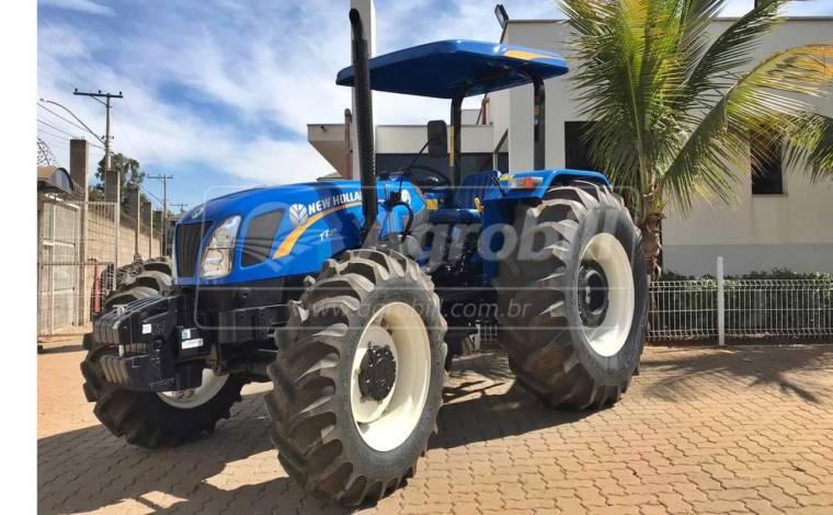 Trator New Holland TT 75  4×4 ano 2020 com 4 horas, novinho - Tratores - New Holland - Agrobill - Tratores, Implementos Agrícolas, Pneus