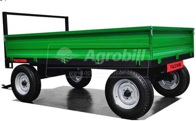 Carreta Agrícola 6.000 Kg / 2 Eixos Simples / Sem Pneus – Facchini > Nova - Carreta Agrícola Metálica - Facchini - Agrobill - Tratores, Implementos Agrícolas, Pneus