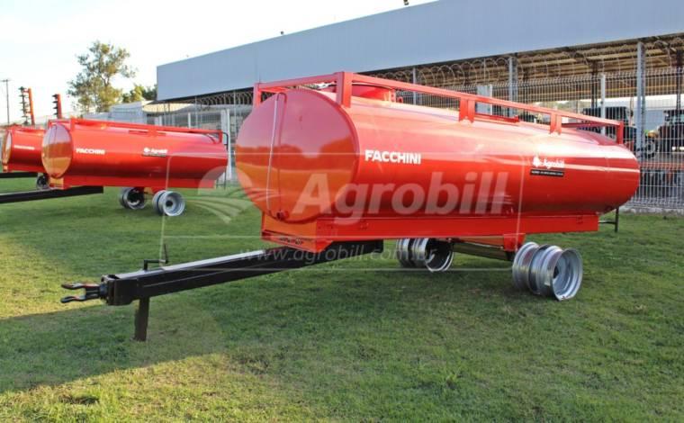 Reboque Agrícola Tanque de Água 4000 L / 1 Eixo Rodado Duplo / Sem Pneus – Facchini > Novo - Tanque de Água - Facchini - Agrobill - Tratores, Implementos Agrícolas, Pneus