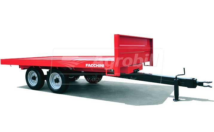 Carreta Agrícola Prancha 5 toneladas / Rodado Simples Tandem / Sem Pneus – Facchini > Nova - Carreta Agrícola Metálica - Facchini - Agrobill - Tratores, Implementos Agrícolas, Pneus