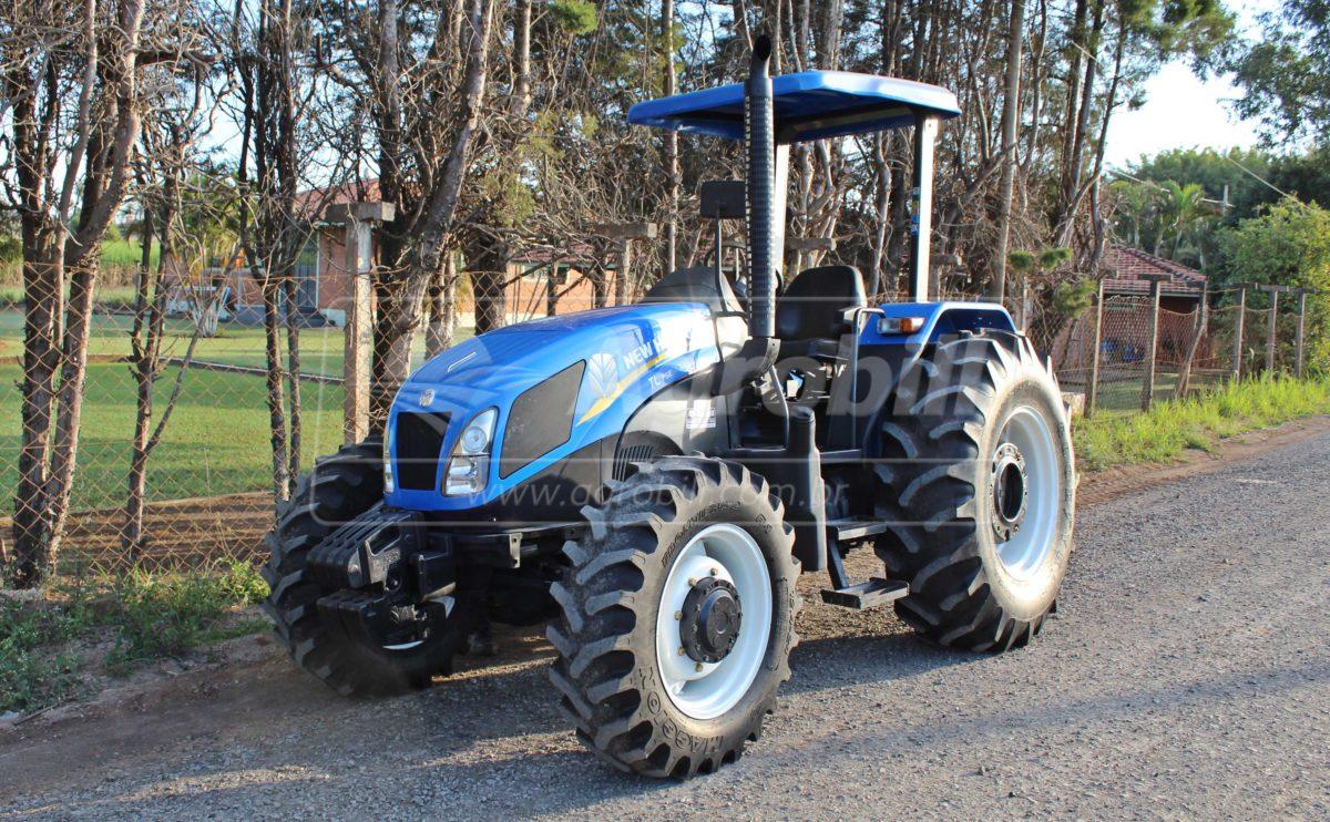 Trator New Holland TL 75 E 4×4 ano 2017 - Tratores - New Holland - Agrobill - Tratores, Implementos Agrícolas, Pneus