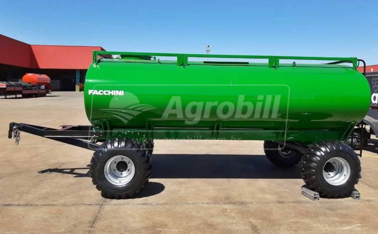 Reboque Agrícola Tanque de Água 7000 L / 2 Eixos 15.5 / Sem Pneus – Facchini > Novo - Tanque de Água - Facchini - Agrobill - Tratores, Implementos Agrícolas, Pneus