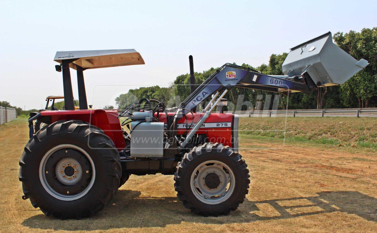 Trator Massey 275 4×4 ano 1997 c/ Conjunto de Concha TATU c/ Pneus Duplados - Tratores - Massey Ferguson - Agrobill - Tratores, Implementos Agrícolas, Pneus