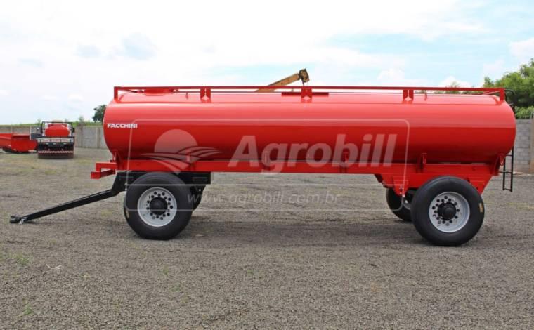 Reboque Agrícola Tanque de Água 10500 L / 2 Eixos Simples / Aro 22.5 / com Molas / Sem Pneus – Facchini > Novo - Tanque de Água - Facchini - Agrobill - Tratores, Implementos Agrícolas, Pneus