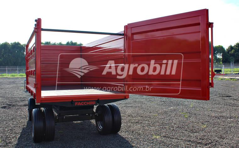 Carreta Agrícola Forrageira 6 toneladas Basculante / 9m³ / 2 Eixos RS + RD / Sem Pneus – Facchini > Nova - Carreta Agrícola Metálica - Facchini - Agrobill - Tratores, Implementos Agrícolas, Pneus