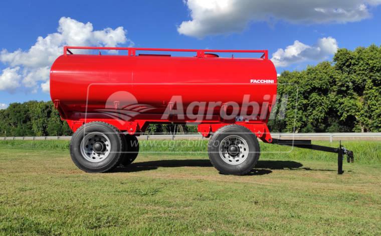 Reboque Agrícola Tanque de Água 12500 L / 2 Eixos RS + RD / Aro 22.5 / com Molas / Sem Pneus – Facchini – Novo - Tanque de Água - Facchini - Agrobill - Tratores, Implementos Agrícolas, Pneus