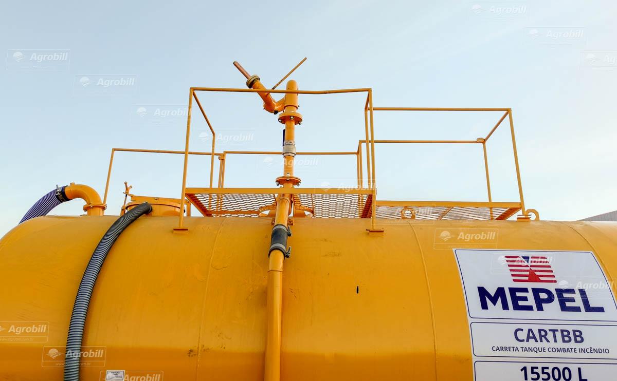 Carreta Tanque Combate Incêndio CARTBB 15500L Completo / 2 Eixos Simples + Duplo / Sem Pneus – Mepel > Novo - Tanque de Água - Mepel - Agrobill - Tratores, Implementos Agrícolas, Pneus