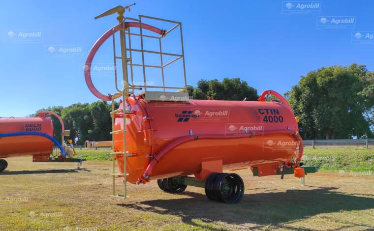 Carreta Tanque com Bomba Lobular CTIN 4000 L / Com Canhão de Combate a Incêncio / Bomba Bl-3 / Rodado Duplo / Sem Pneus – Incomagri > Novo - Tanque de Água - Incomagri - Agrobill - Tratores, Implementos Agrícolas, Pneus