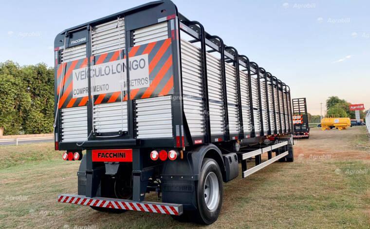 Reboque Boiadeiro 2 eixos 10,5 metros c/ fechamento em aluminio FACCHINI 0KM - Boiadeiras - Facchini - Agrobill - Tratores, Implementos Agrícolas, Pneus